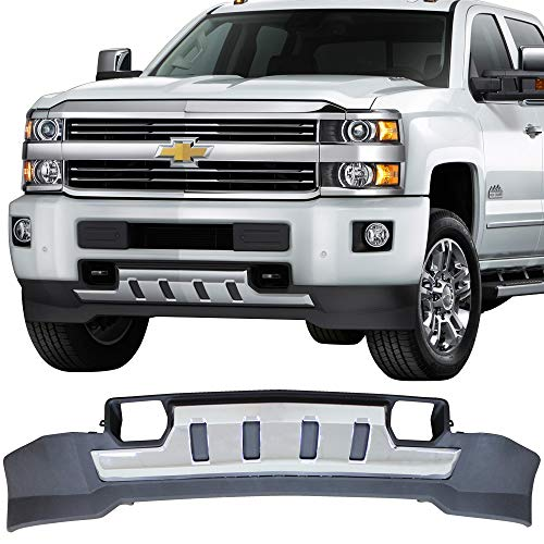Front Skid Plate Fits 2015-2018 Chevy Silverado 2500 3500 | Front Under Bumper Skid Plate Protective Armor by IKON MOTORSPORTS | 2016 2017