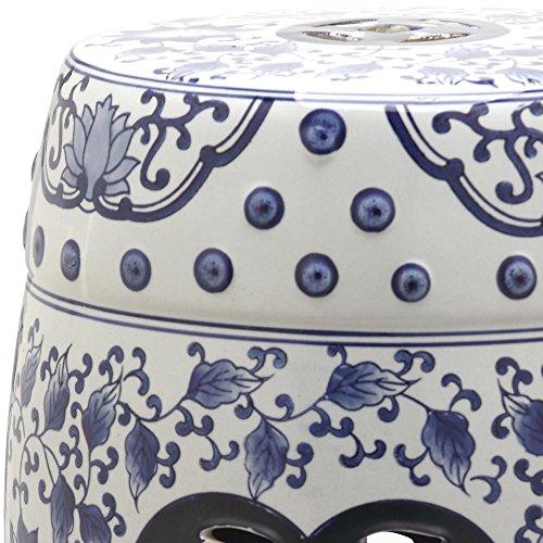 Safavieh Castle Gardens Collection Tao Blue and White Glazed Ceramic Garden Stool by Safavieh (Image #1)