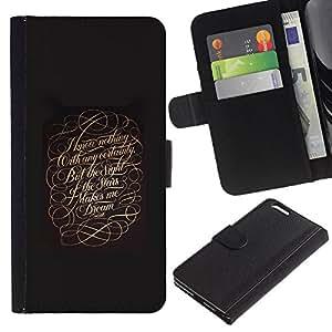 KLONGSHOP // Tirón de la caja Cartera de cuero con ranuras para tarjetas - Confidencial - Apple Iphone 6 PLUS 5.5 //
