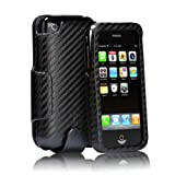 Case-Mate Signature Leather Combo Case - Holster for iPhone - Black Carbon Fiber