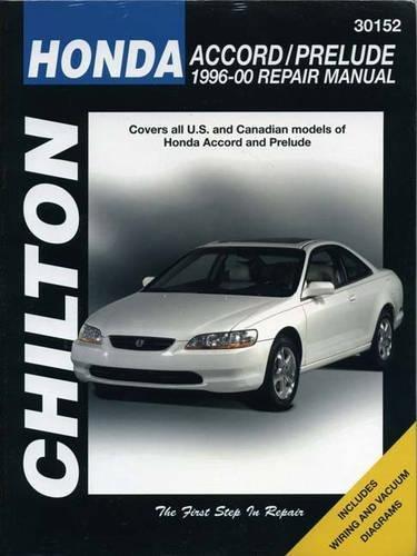 (Honda Accord and Prelude, 1996-00 (Chilton Total Car Care Series Manuals) )