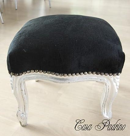 Casa-Padrino barroco estrado Negro/Plata - muebles antiguos - Heces ...