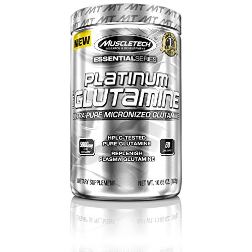 MuscleTech Glutamine, 100% Ultra Pure L Glutamine, 60 Day Supply, 10.65 oz (302g)