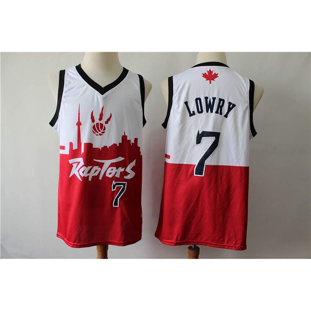 Hhwei Maglia Uomo Jersey Vintage NBA Champion Maglia Basket Swingman Jersey Toronto Raptors #7 Kyle Lowry,S