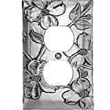 Wendell August Dogwood Single Outlet Cover, Aluminum