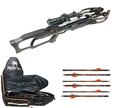 Cheap Ravin R20 Crossbow Package, Ravin Crossbow Case, & 6 Ravin Arrows (Gunmetal Gray)