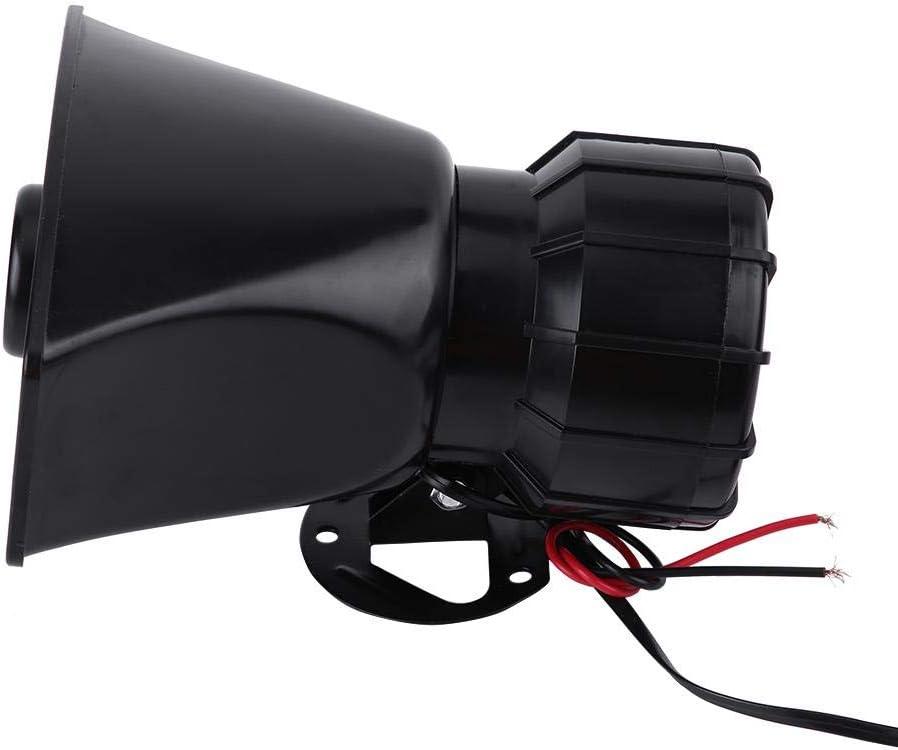 Altavoz para autom/óvil 7 sonidos Altavoz audio para autom/óvil 12 V Universal Altavoz autom/ático para autom/óvil Sirena bocina Sirena advertencia autom/óvil Sirena de advertencia emergencia