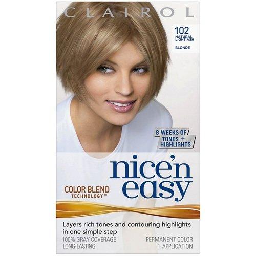 clairol coloration de longue dure nice n easy couleur 102 blond clair cendr - Coloration Blond Clair Cendr
