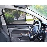 Bayan Small Sized Car Front Side Window Sunshades Driver Sun Shade-2 Pieces