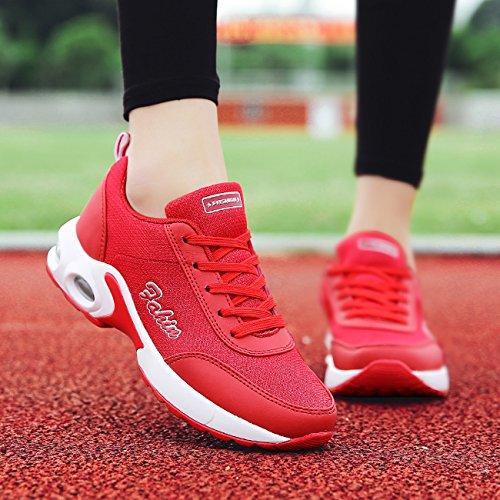 para Zapatillas Mujer Sintético de Rojo NEWCOLOR 08q4pOwn