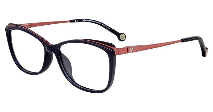 da901283c3f Eyeglasses CH by Carolina Herrera VHE 782 K Blue 07A5 at Amazon ...