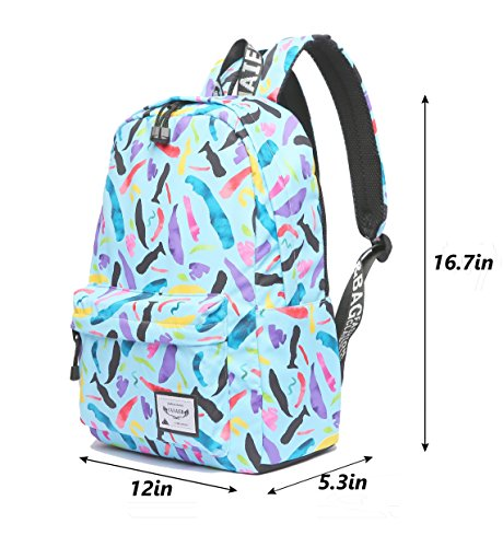 Women Backpack Lightweight Bag water and School Girls Bags Not Style3 Student Travel Backpack BLUE Canvas Backpack splash Bag College School for 6YwpvUx