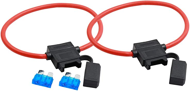1 ATC ATO 10 Gauge Fuse Holder Inline Water Proof  10 Gauge 12V Single