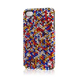 Cellphone Accessory for Best Best-Fit Case for Apple iPhone 4/ 4S Crystal Jeweled Multi Colored