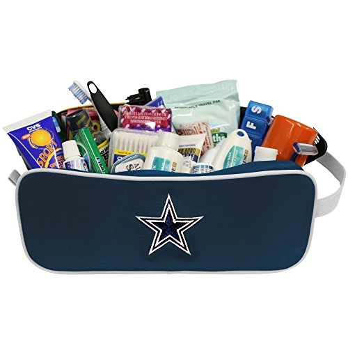 Dallas Nfl Cowboys Case (Charm14 NFL Dallas Cowboys Travel Case-Toiletry Bag-Embroidered Logo)