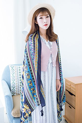 Generic Southeast Asia Thai Elephant ethnic customs twill autumn and winter retro fringed scarf shawl vacation