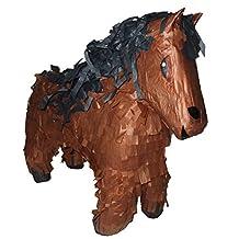 """Brown Horse Paper Mache Decor, 22"""" Long"""