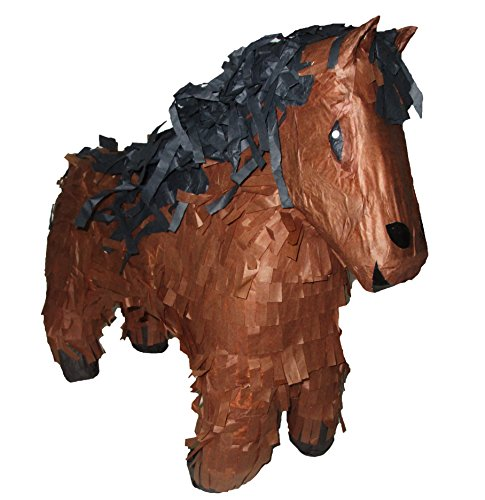(Pinatas Brown Horse Paper Mache Decor, 22