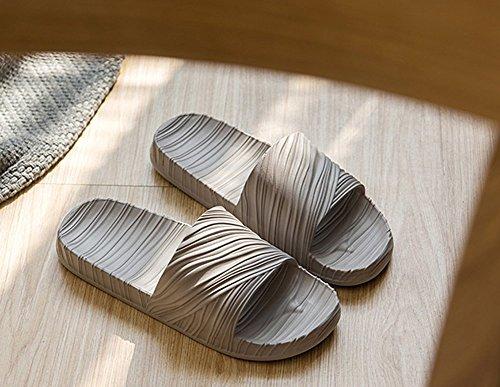 Homme Minetom Chaussures Pantoufles Plates Salle Gris C Femme Bains Gym Piscine Chaussons Été Sandales Flops Flip de Antidérapant Unisexe Homme Thongs Plancher Plage wPw5Iv
