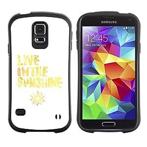 "Pulsar iFace Series Tpu silicona Carcasa Funda Case para Samsung Galaxy S5 , Vive Cita Sol Sun Amarillo Blanco"""
