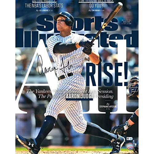 Aaron Judge New York Yankees FAN Autographed Signed 16x20 All Rise Sports Illustrated Cover Photograph - Certified Signature
