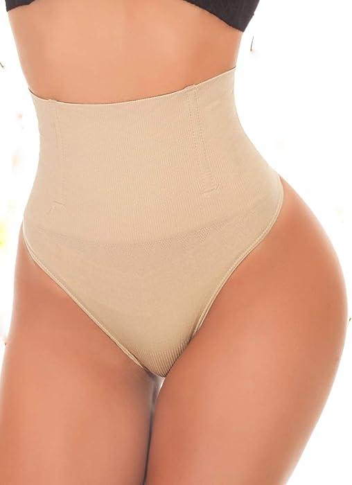 582ef86fa16f4 SEXYWG Women Waist Cincher Girdle Tummy Control Thong Panty Slimmer ...
