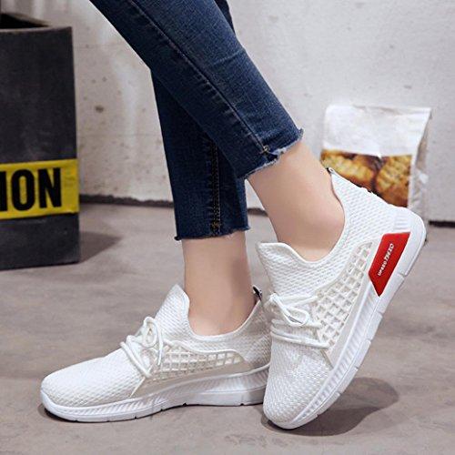 Unie Tissu Chaussures Course Blanc Beautyjourney Couleur Noué Sport Chaussures Stretch Gym Femmes Chaussures De De Chaussures Cross Chaussures Femme pour De q0vWcp01