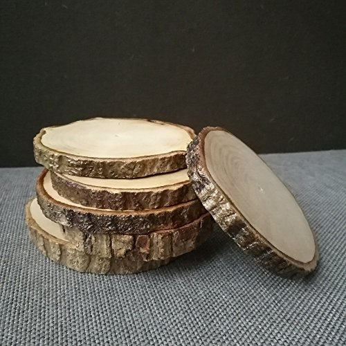 6pcs Household Nature Wood Grain Solid Wooden Cup Pads Mug Mat Drink Coasters Teacup Pad (6-8cm Dia.)