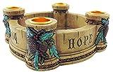 Joy, Faith, Love, Hope Advent Wreath Candle Holder