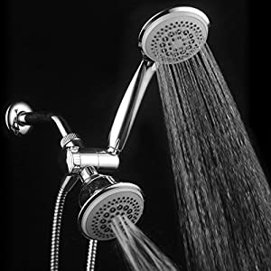 DreamSpa 36-setting Ultra-Luxury 3-way Shower Head with Handshower Combo. Use each showerhead separately or both together!