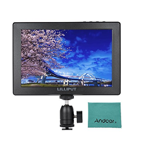 LILLIPUT A7 7 Full HD IPS Screen Camera-Top Monitor 1920 1200 Resolution HDMI In & Loop-out Peaking Filter False Color Histogram Image Flip Pixel to Pixel Functions for DSLR & Full HD Camcorder