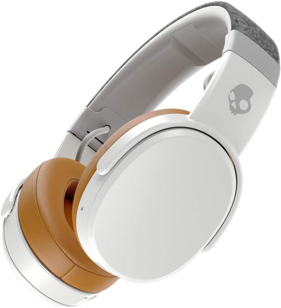 Skullcandy Crusher Over-Ear Bluetooth, Auriculares Inalámbricos con Micrófono, Espuma Viscoelástica con Aislamiento de Ruido, Estéreo Ajustable, Batería con 40h de Duración, Gris/Marrón.