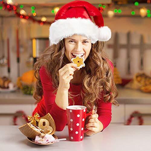 BALORAY Santa Hat for Adults Big Santa Hat Comfort Double Liner Plush Red Velvet