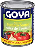 Goya Foods Tomato Sauce with Cilantro, Onion & Garlic, 8 Ounce (Pack of 48)