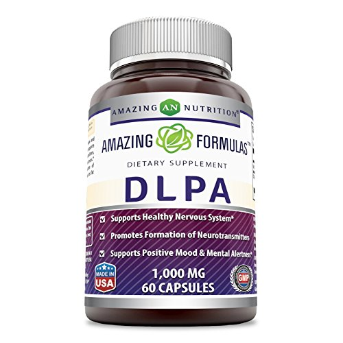 Amazing Formulas DLPA 1000 Mg 60 Capsules (Non-GMO) - Supports Healthy Nervous System* Promotes Formation of Neurotransmitters* Supports Positive Mood & Mental Alertness*