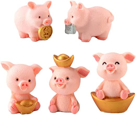 Miniature Fairy Garden happy farm pigs