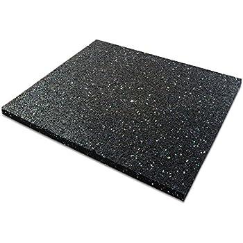 IncStores Soft Rubber Interlocking Gym Tiles Blue Fleck - Weight lifting floor pads