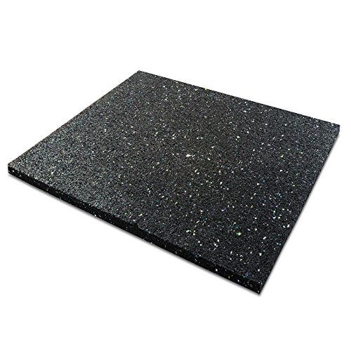 casa pura Anti-Vibration Pad | Rubber Vibration Isolator Mat | Matting for Washing Machines, Washers, Dryers and Appliances | Available in 6 Sizes | 24x24x0.4
