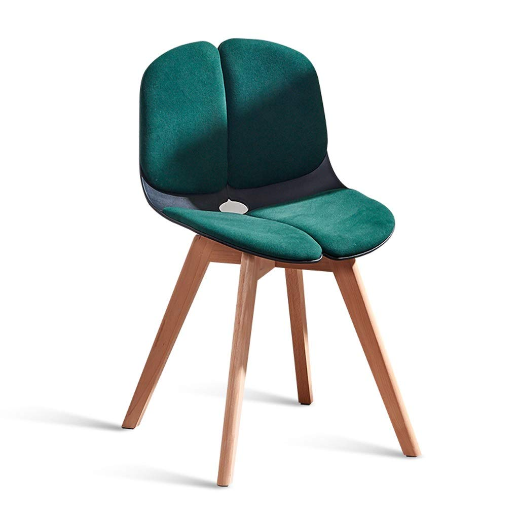 C Solid Wood Computer Chair, Lounge Chair with Backrest Restaurant Furniture Wooden Frame Bar Chair Breakfast Stool, for Kitchen, Restaurant, Cafe, Bar (Size  43  43  76cm) (color   C)