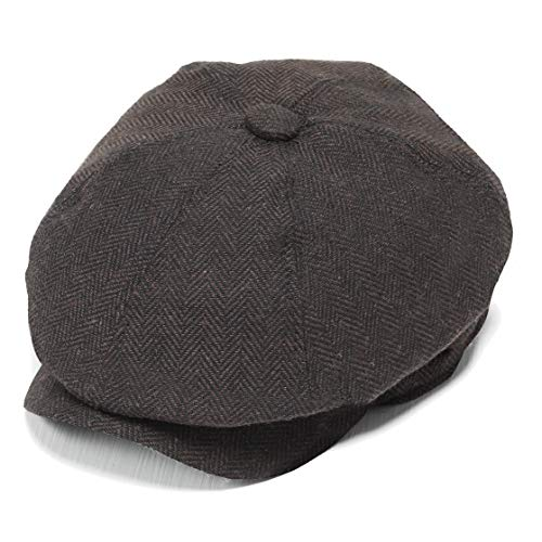 BABEYOND Newsboy Hat Cap for Men Women Gatsby Hat for Men 1920s Mens Gatsby Costume Accessories (Coffee) -