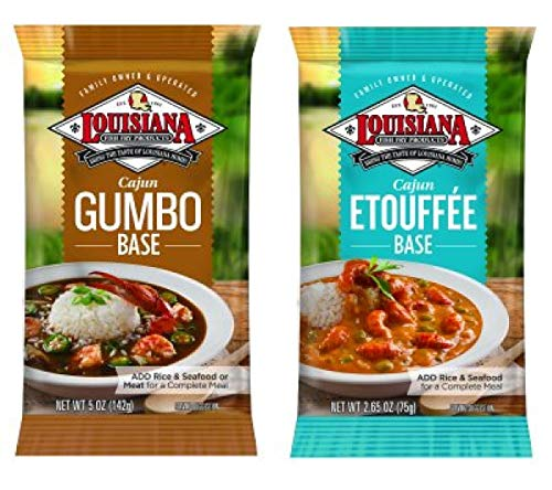Louisiana Fish Fry Company Cajun Creole Meals Bundle - 1 each of Gumbo Base 5 Ounces and Etouffee Base 2.65 Ounces