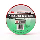 3M Vinyl Duct Tape, Red,  2-Inch by 50-Yard