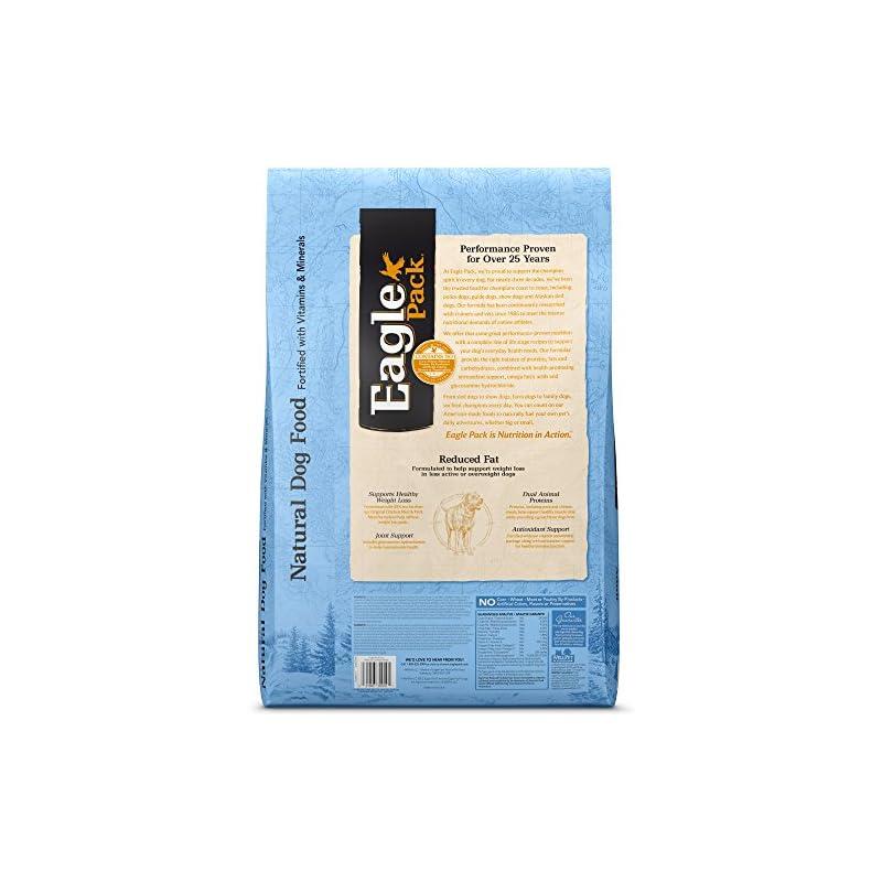 dog supplies online eagle pack natural dry reduced fat dog food, pork, chicken & fish, 30-pound bag