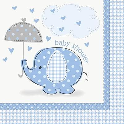 Cartel para fiesta color azul y blanco de servilletas de ...