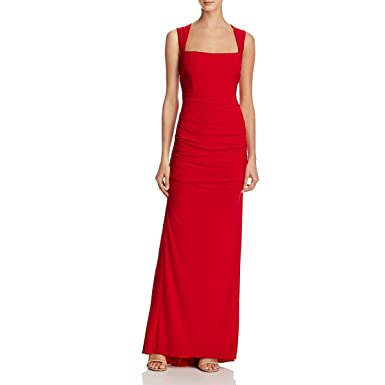 4709165e0653e Adrianna Papell Women s Sleeveless Side Ruched Jersey Gown Cardinal ...
