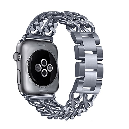 Graphite Gray Series - Secbolt for Apple Watch Band 38mm, Stainless Steel Watch Strap Band Replacement Wristband for Apple Watch Nike+, Series 2, Series 1, Sport, Edition, Space Gray