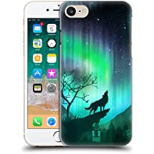 Case+Film+Stylus+Wrap+Cap, Hard Back Case with Ultra-thin and Lightweight Polycarbonate Material Fits Apple iPhone 6/6S/7/8 Northern Lights and Wolf