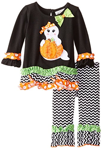 Rare Editions Baby Baby-Girls' Ghost Applique Legging Set