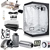 BloomGrow 315W CMH Grow Light Fixture 6'' Inline Fan Carbon Filter Ducting Combo Hydroponic Accessory Grow 48''x48''x80'' Tent Complete Kit Plant Germination Kits Ventilation System (Grow Tent Kit 3)