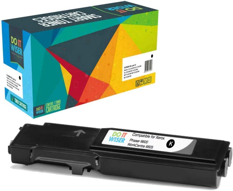 Do it Wiser Compatible Toner Cartridge Replacement for Xerox Phaser 6600 WorkCentre 6605 High Yield 4-Pack 106R02228 106R02225 106R02226 106R02227